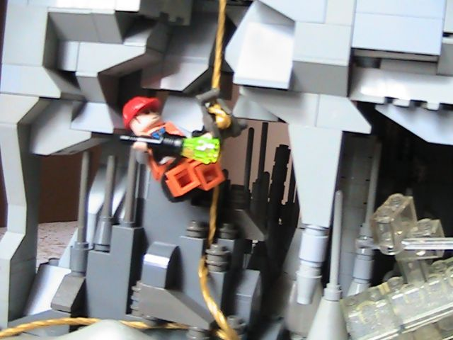 Diamond in the Rough - a LEGO model of a crystal cave
