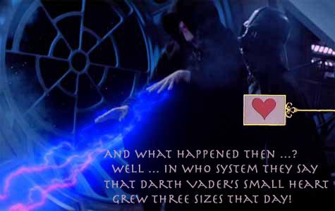 Darth Vader's sudden change of heart